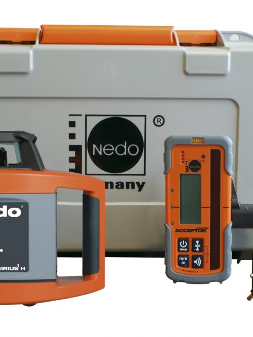 Nedo SIRIUS1 H incl. laser receiver ACCEPTORdigital High-power laser diode (3R) for very good laser beam visibility