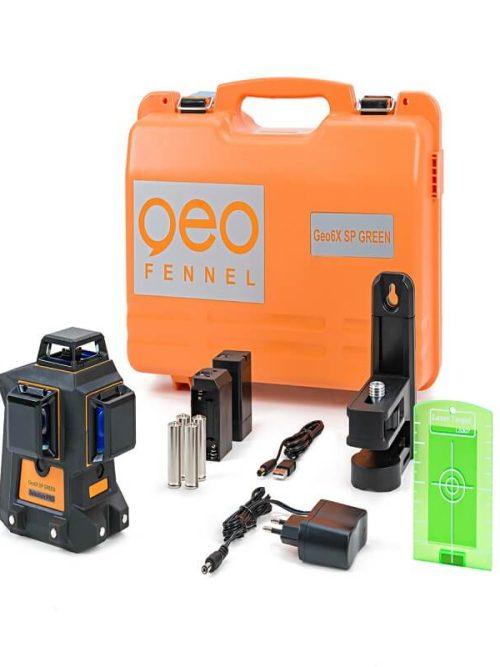 Geo-Fennel Geo6X GREEN KIT SP line laser set