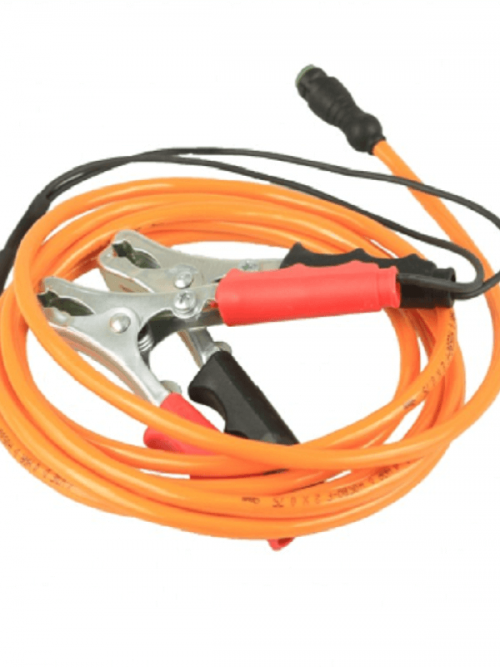 GeoMax Battery cable for connection of the Zeta 125 Series to a 12 V power supply, with battery clamp