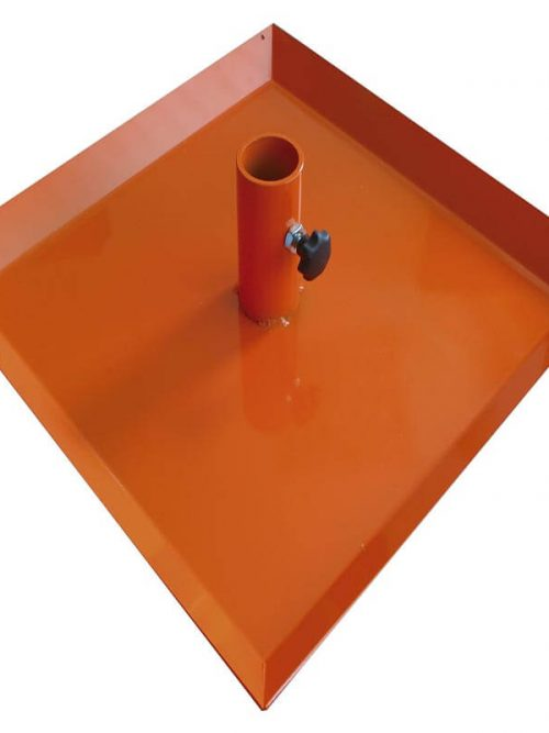 Nedo Base plate for casting concrete To increase the size of the supporting surface for the flexi rod and prevent it from sinking into the concrete