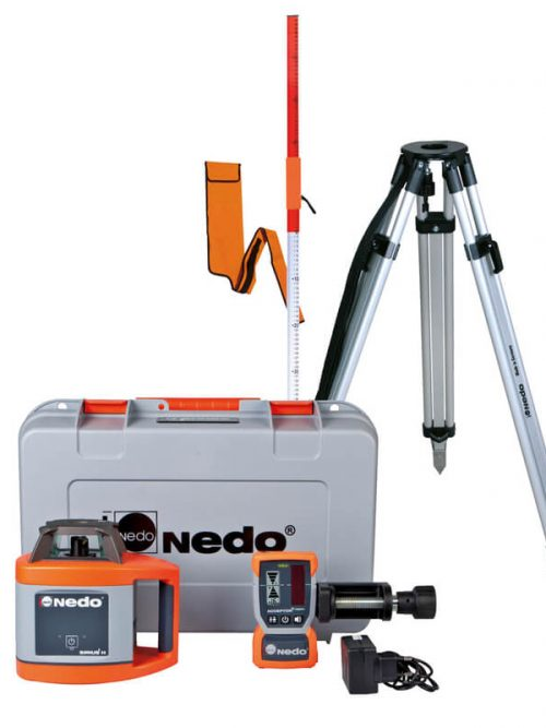 Nedo SIRIUS1 H Set is Fully automatic horizontal laser for exterior applications